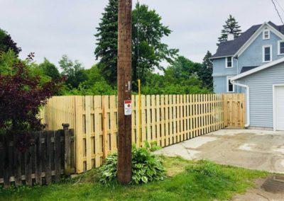 treated fence wood