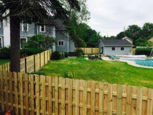 treated fence wood pool