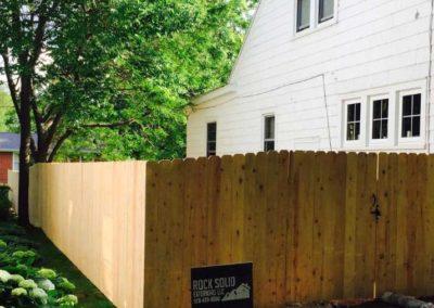 treated fence wood gate
