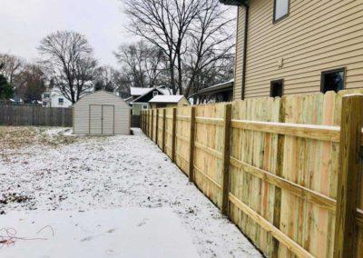 treated fence wood yard