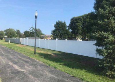vinyl fenced street