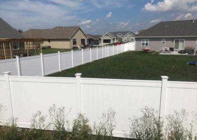 vinyl fenced in yard