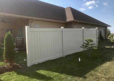 vinyl fenced segment