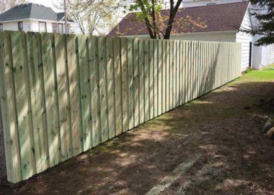 wood fence side yard