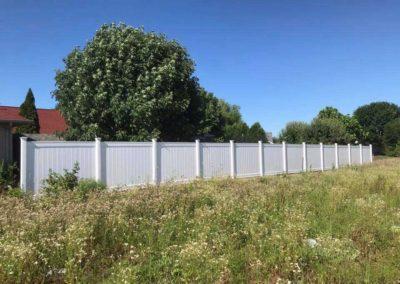 vinyl fenced field