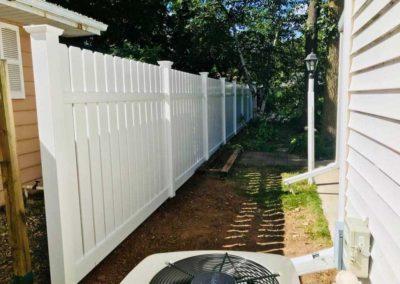 vinyl fence woods