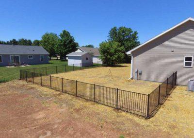 metal fence backyard