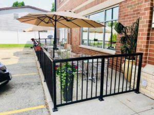 metal fence patio