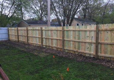 wood fence yard