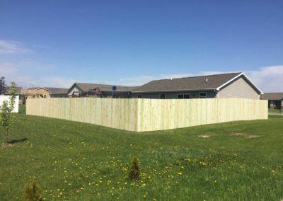 wood fence field