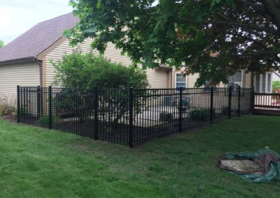 metal fence patio yard