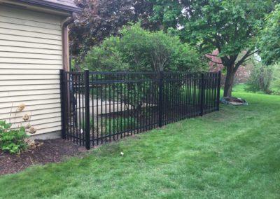 metal fence yard