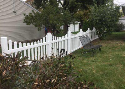 vinyl fence decorative gate
